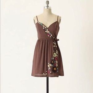 Anthropologie | Eloise Floral Embroidered Dress